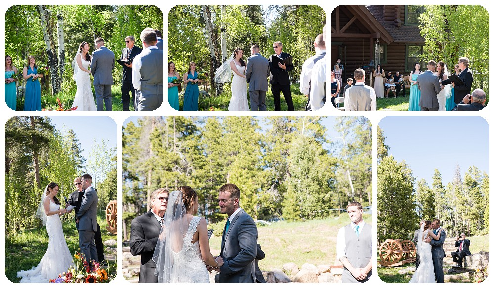 Wedding Ceremony in Conifer, Colorado