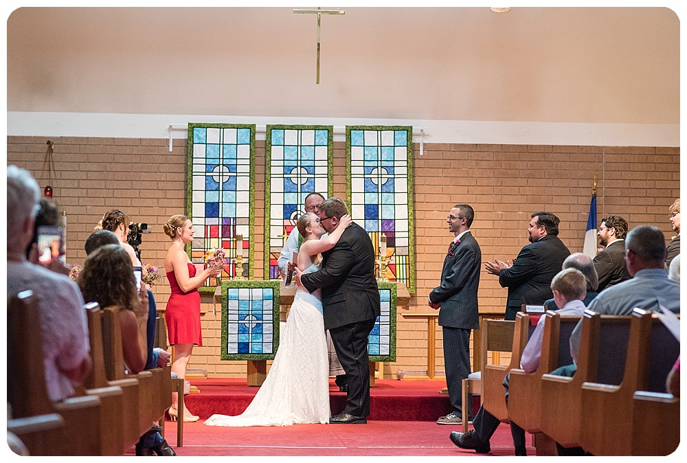 First kiss at The Bethlehem Lutheran Church
