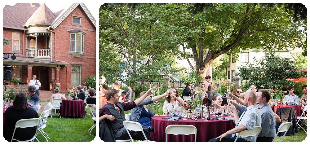 Wedding toasts at the Callahan House by Rayna McGinnis Photography