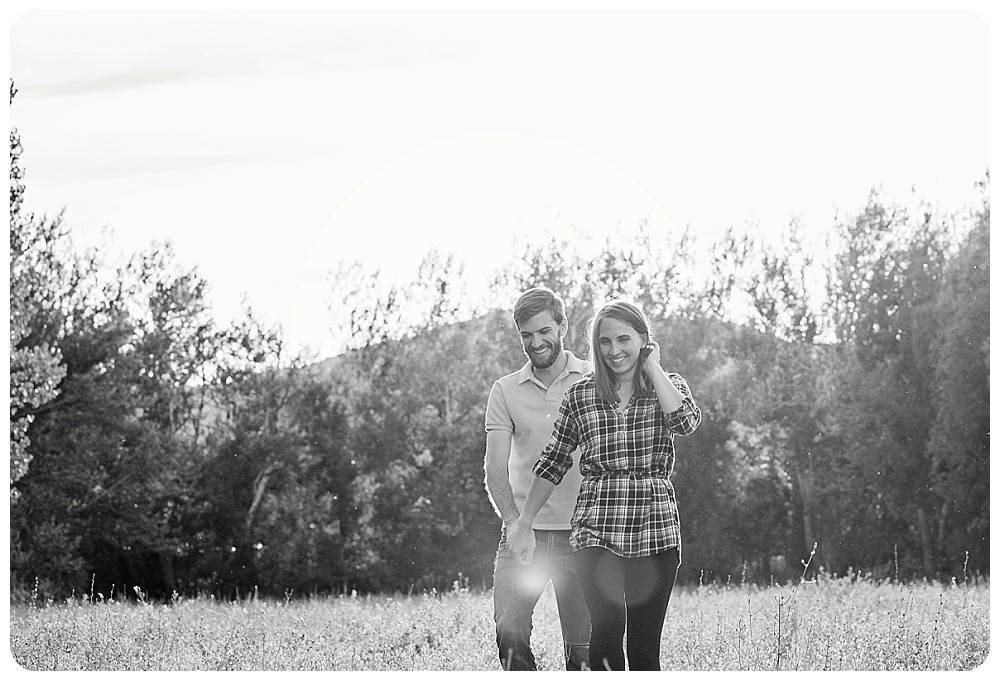 Lone Hawk Farm Engagement Pictures at sunset