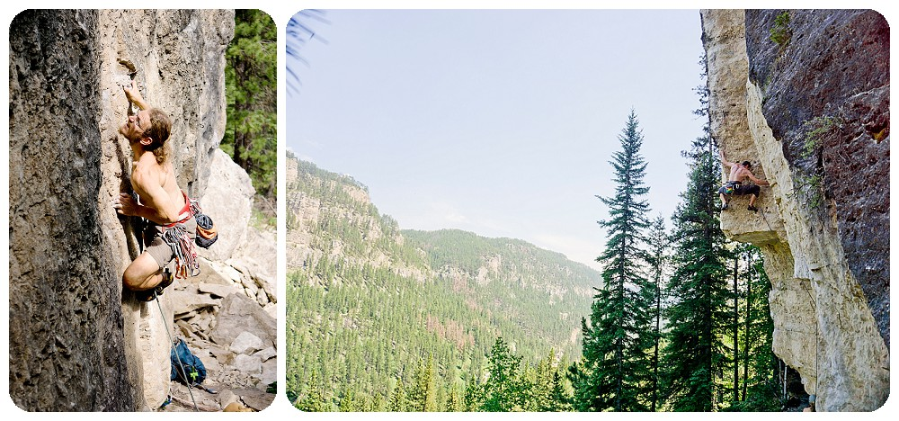 rock climbing in spearfish canyon, south dakota