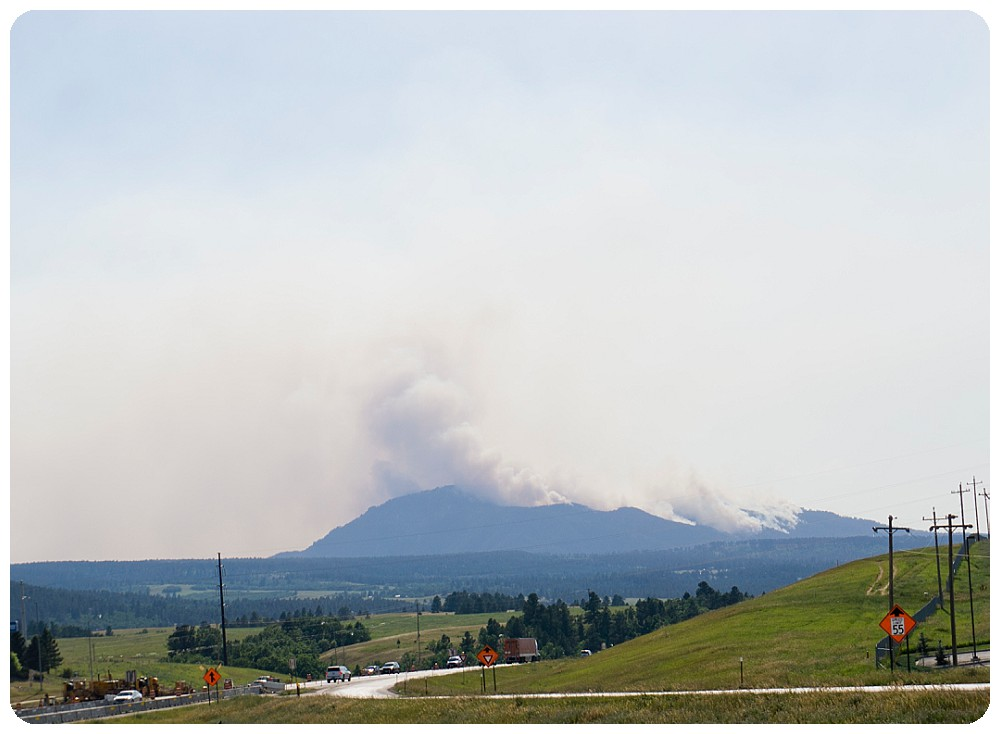 Crow Peak fire in Spearfish South Dakota