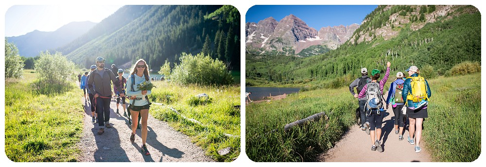 Maroon Bells Hiking Wedding