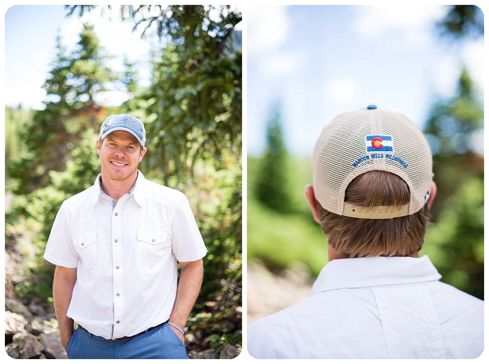 Groom portraits at Maroon Bells