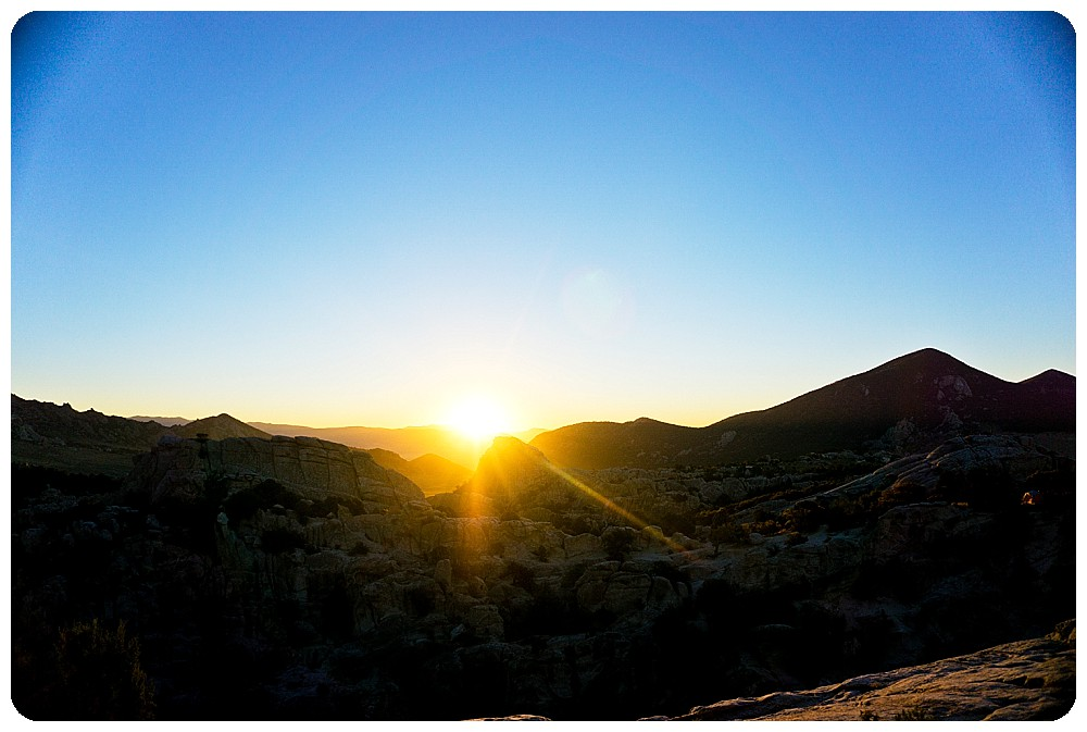 Sunrise at City of Rocks, Idaho by Destination Wedding Photographer, Rayna McGinnis