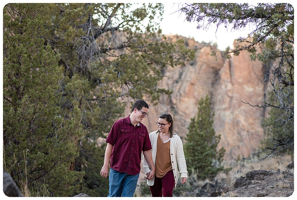 Smith Rock couples session by Oregon Wedding Photographer, Rayna McGinnis
