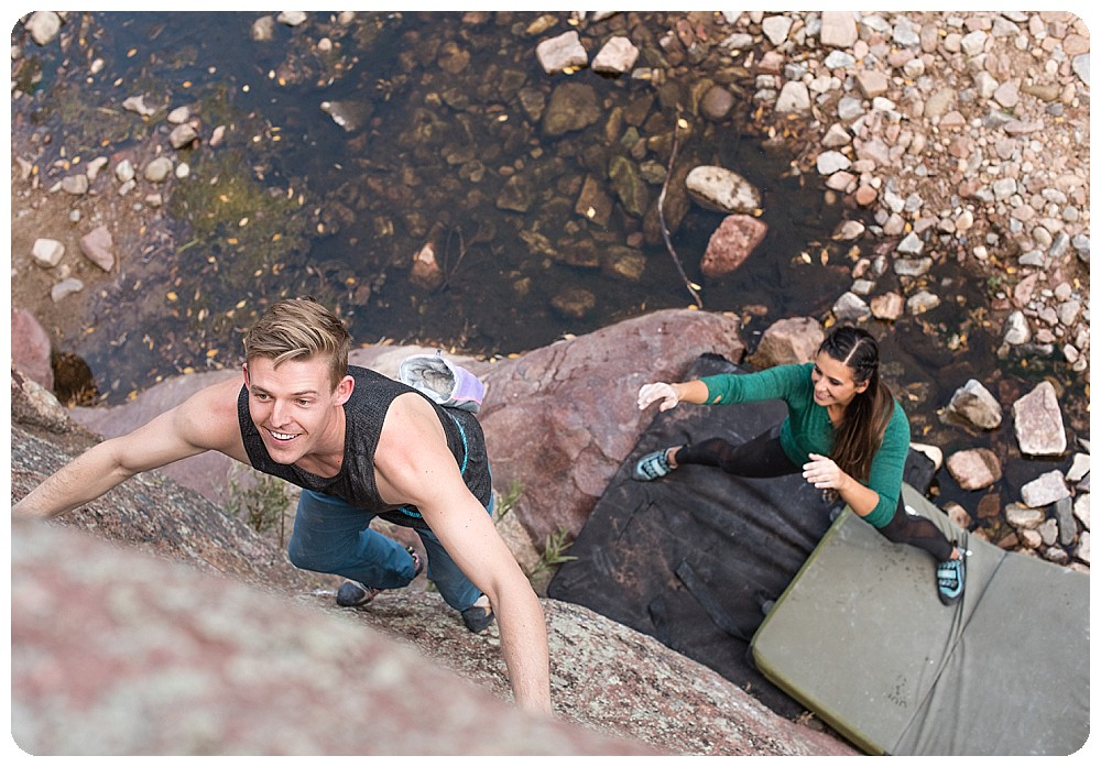 Bouldering on the Water Rock