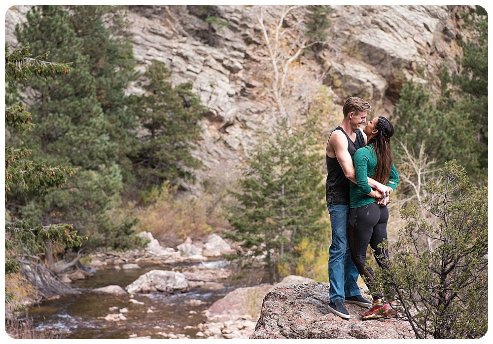 rock climbing couples session at Eldorado