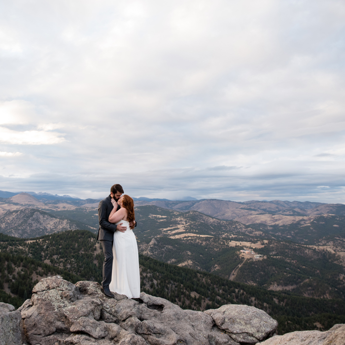 boulder elopement photographer at flagstaff mountain elopement