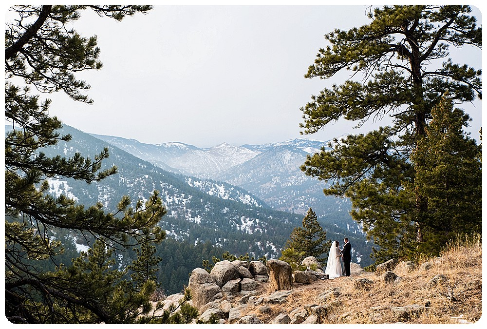 View of the Continental Divide during Colorado Winter Elopement