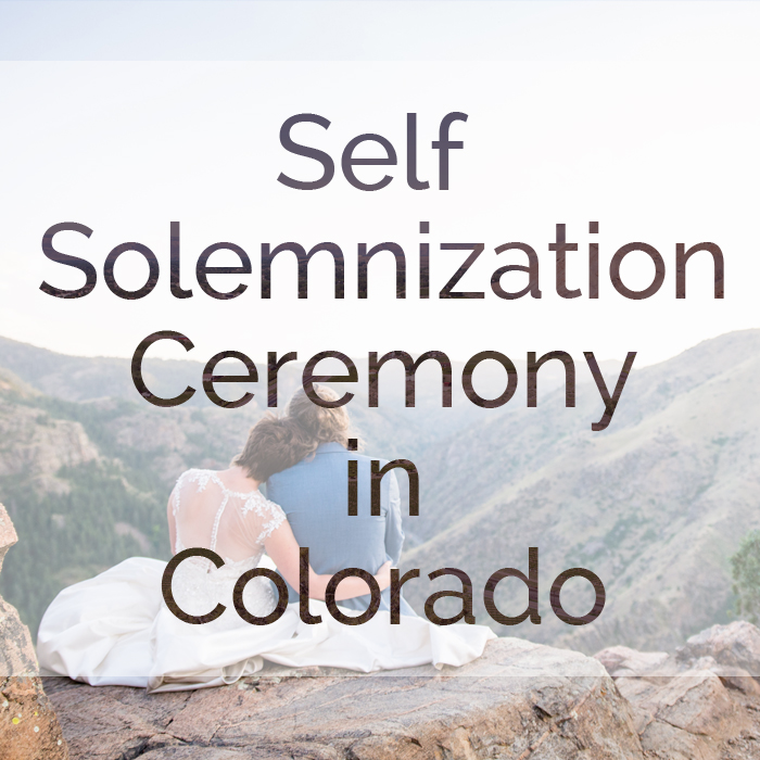 Pros and Cons of Self Solemnization Elopement in Colorado by Rayna McGinnis Photography