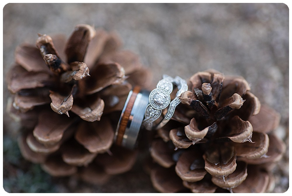 Ring shot for Destination Elopement in Colorado