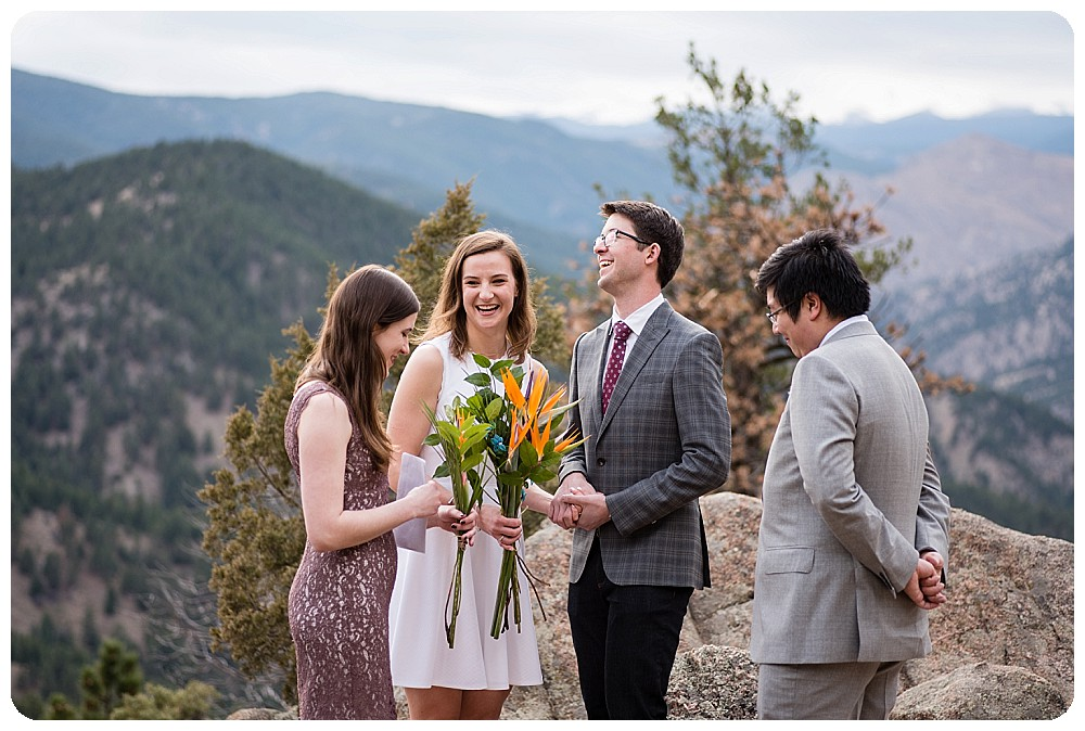 Boulder Colorado Elopement on Flagstaff Mtn