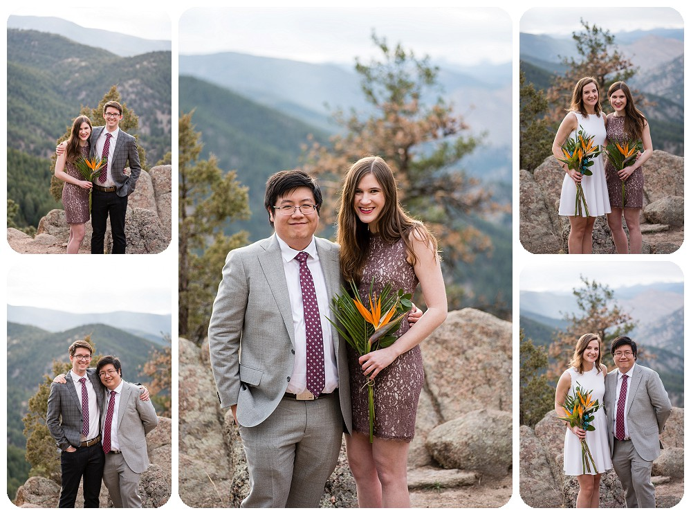 Boulder Colorado Elopement Group Photos