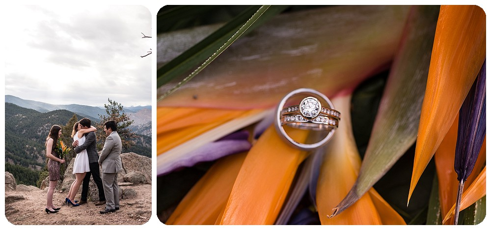 Boulder Colorado Elopement Ring Shot