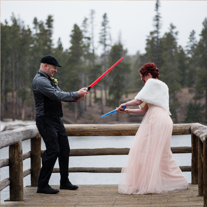 Star Wars Sprague Lake Elopement at Rocky Mountain National Park