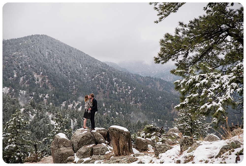 Bride and Groom standing on top of the world!