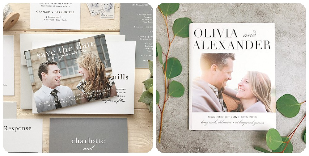 Custom Elopement Announcements and Thank You Cards