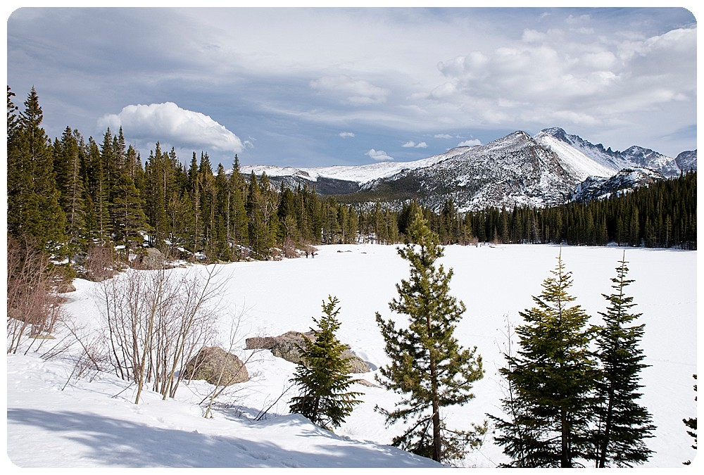 April at Bear Lake in Rocky Mountain National Park.