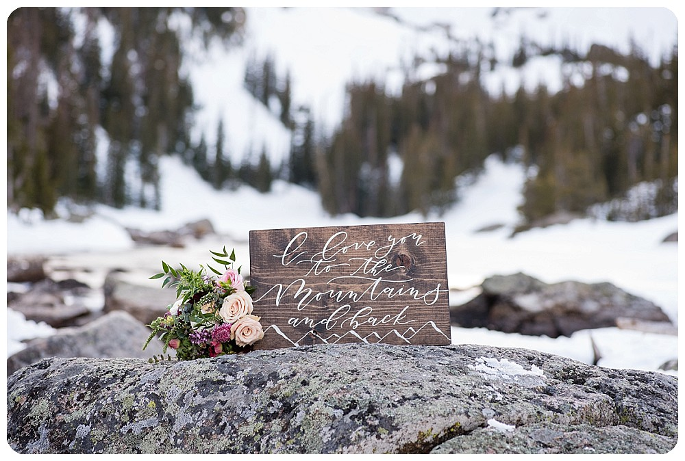 I love you to the mountains and back sign by Before Noon Paperie