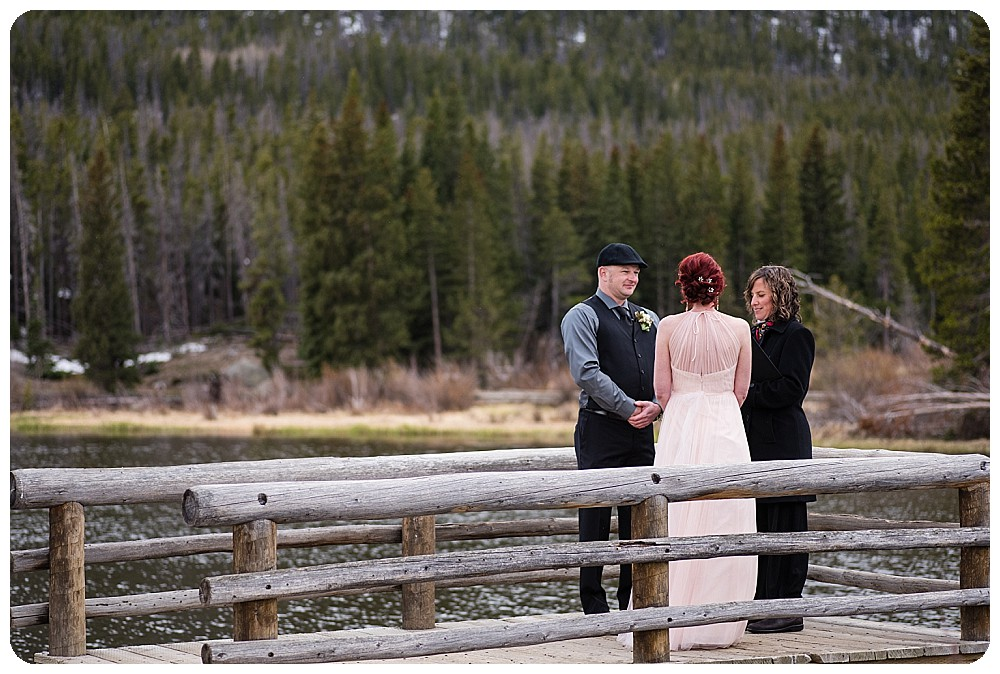 Sprague Lake Elopement Ceremony in Rocky Mountains