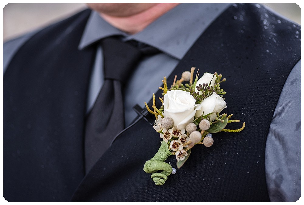 J's boutonniere by the Enchanted Florist