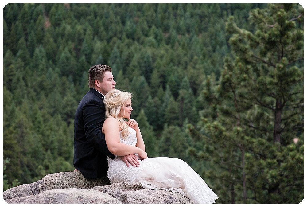 Bride and Groom taking a moment to enjoy their elopement day.
