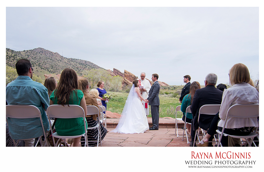 Golden Wedding Ceremony at the Chapel at Red Rocks