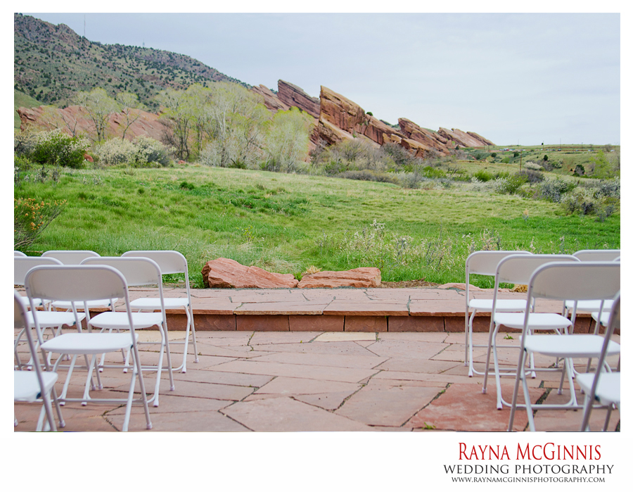 Ceremony site at the Chapel at Red Rocks