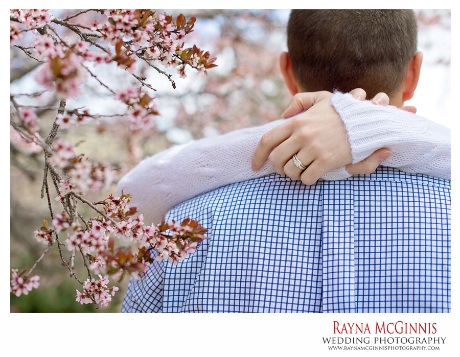 Golden Engagement Photography with Cherry Blossoms