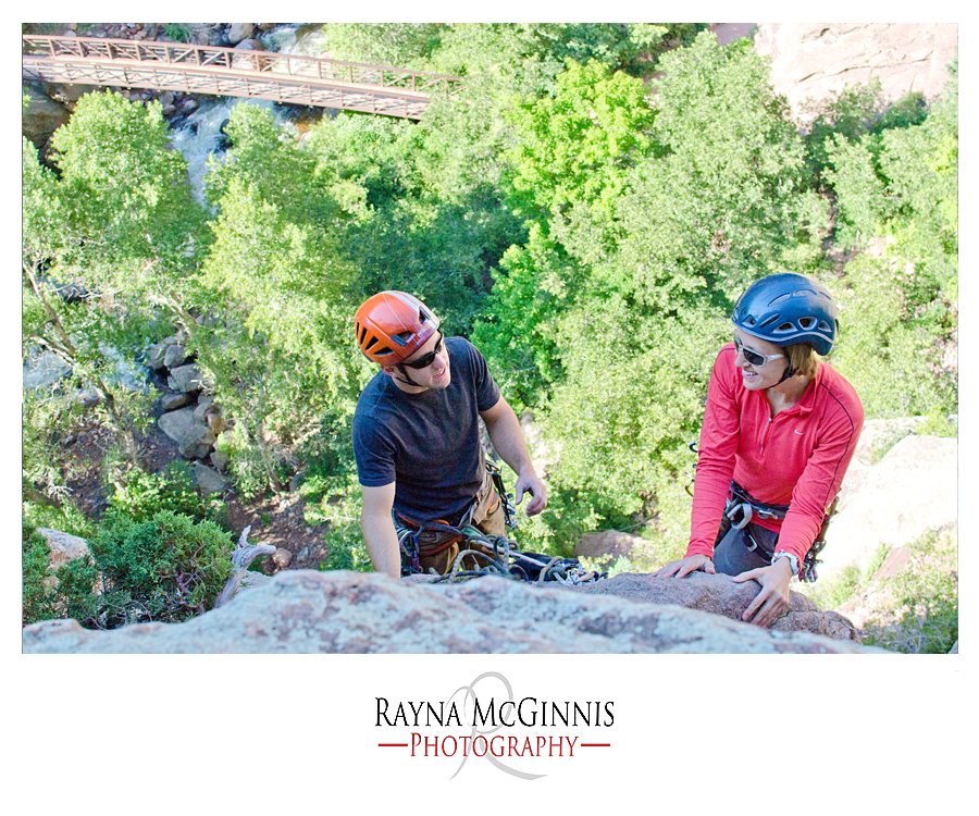 Couple Rock Climbing at Eldorado Canyon State Park