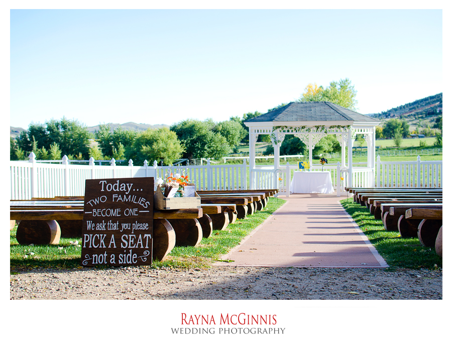 Wedding photography at Ellis Ranch in Loveland Colorado