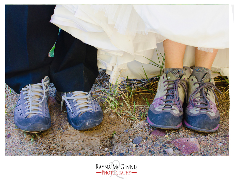 Wedding Photography at Eldorado Canyon State Park with Climbing Shoes