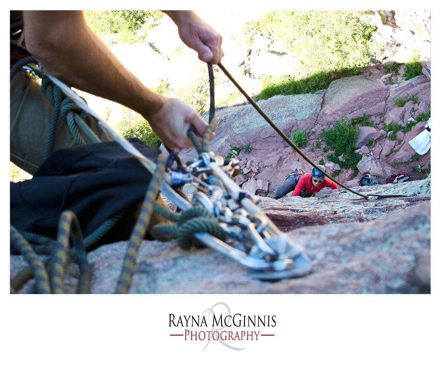 Rock Climbing Couple's Session in Eldorado Canyon State Park of Colorado