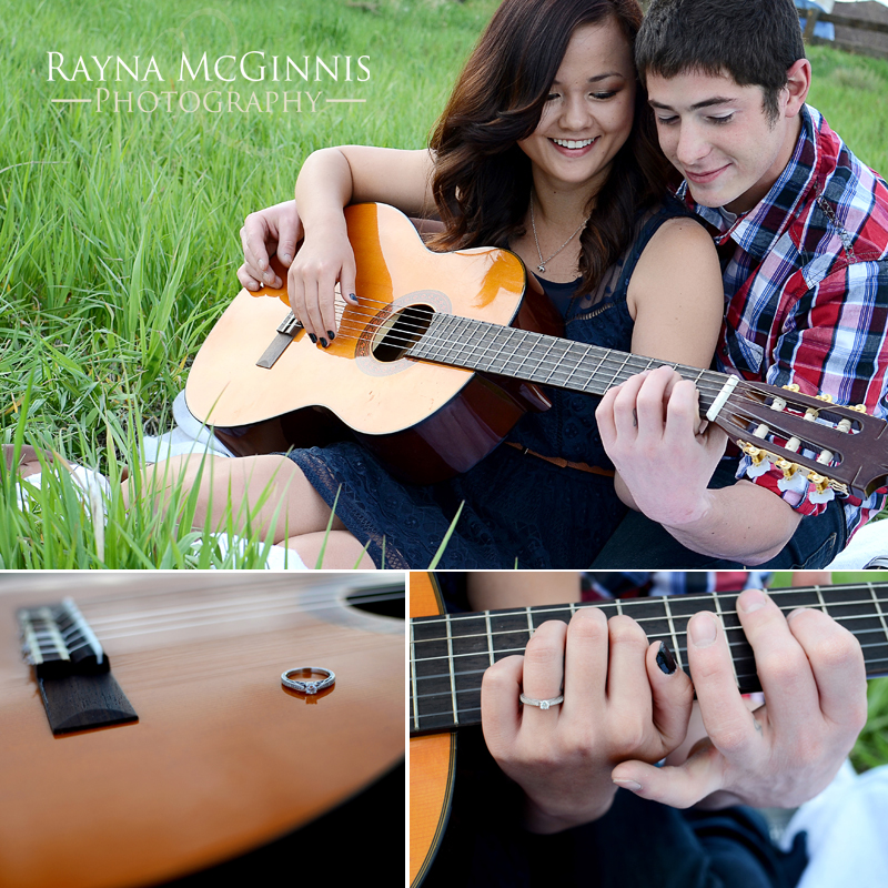 Engagement Session at Standley Lake with Guitar