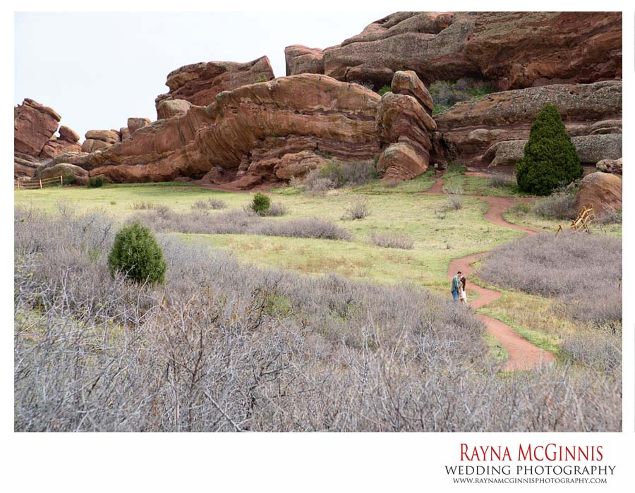 Golden Engagement Photography at Red Rocks Park