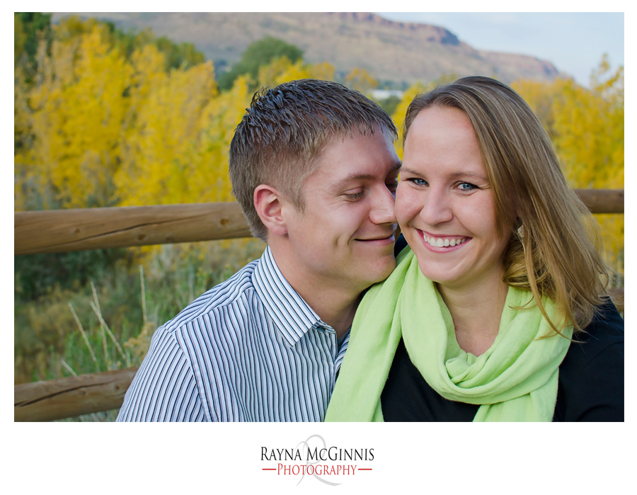 Golden Engagement Session at the Clear Creek Trail by Rayna