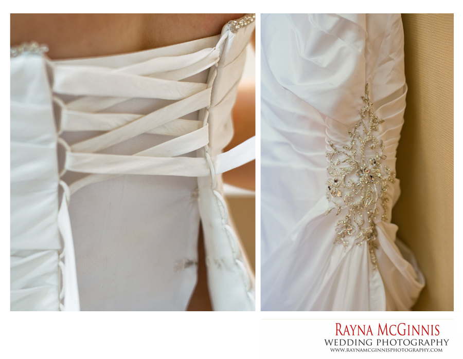 Dress details for Colorado wedding