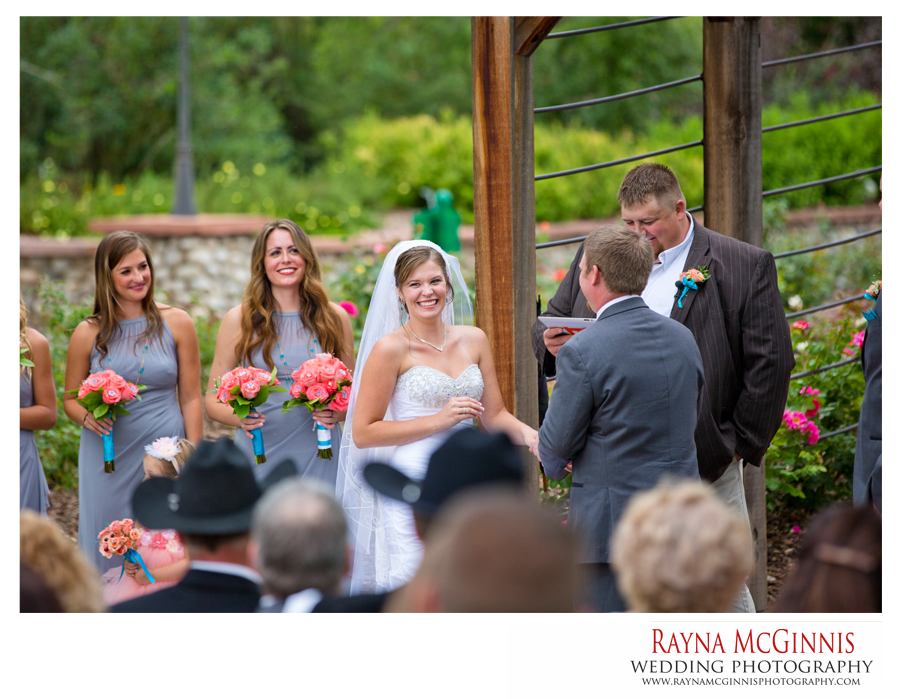 wedding ceremony at hudson gardens rose garden