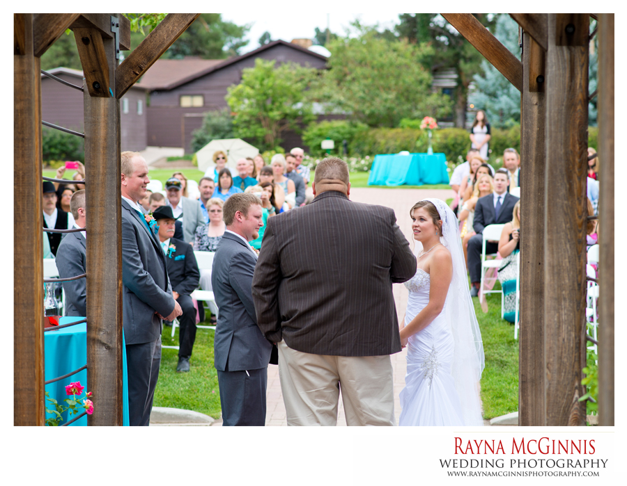 Rose Garden Wedding Ceremony at Hudson Gardens