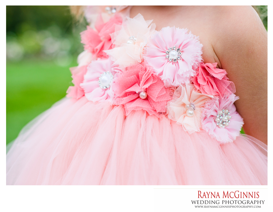 Hudson Garden's Wedding Photography of flower girl dress