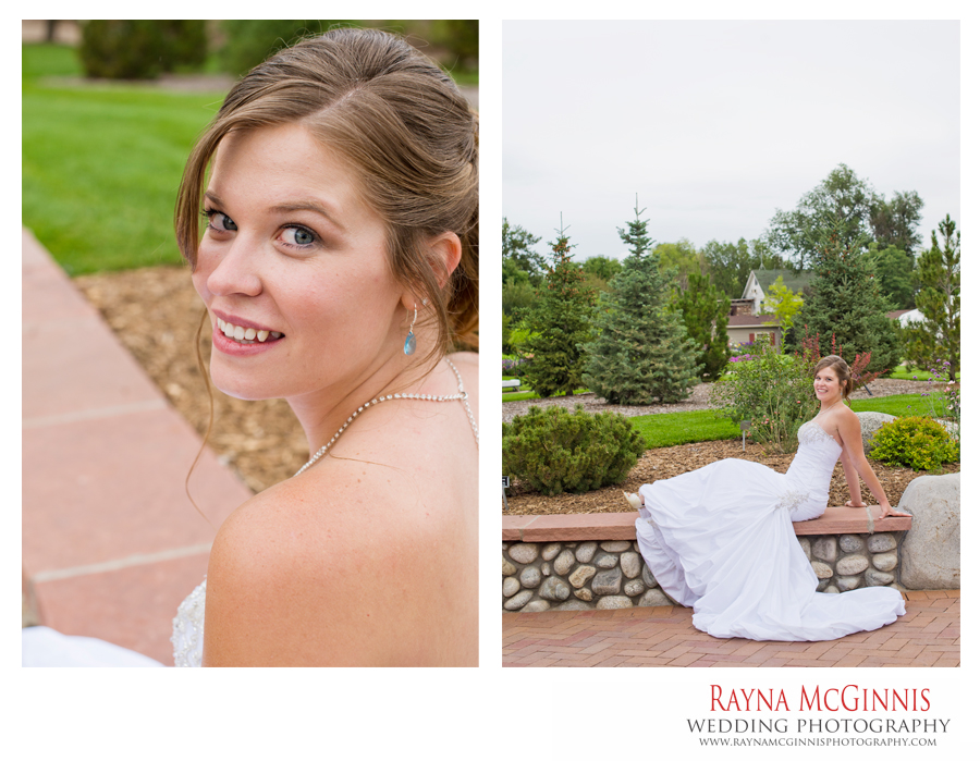 Bridal Portraits at Hudsons gardens lily pad