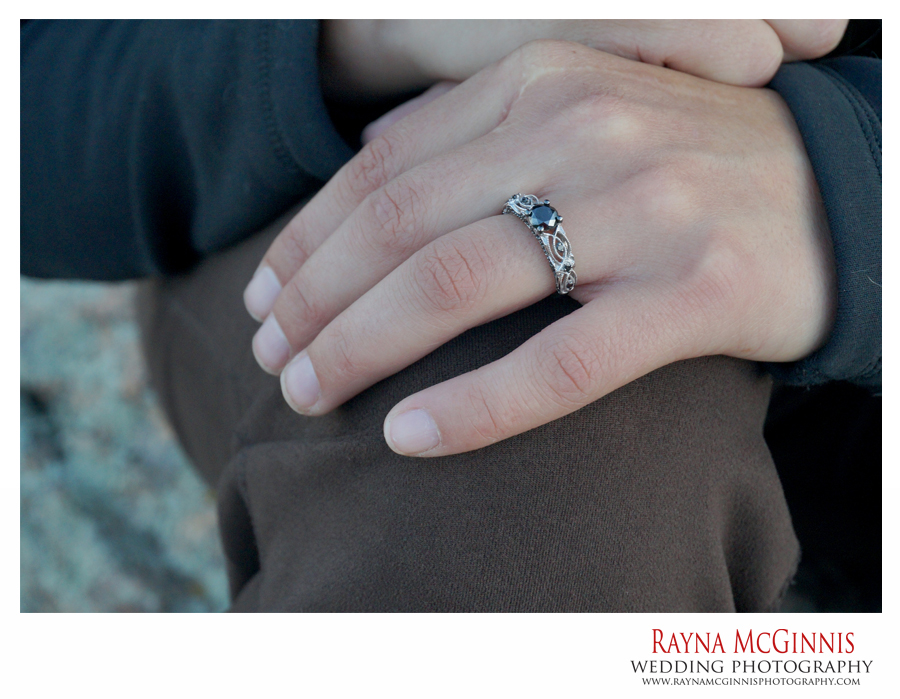 Picture of Rayna's black diamond engagement ring