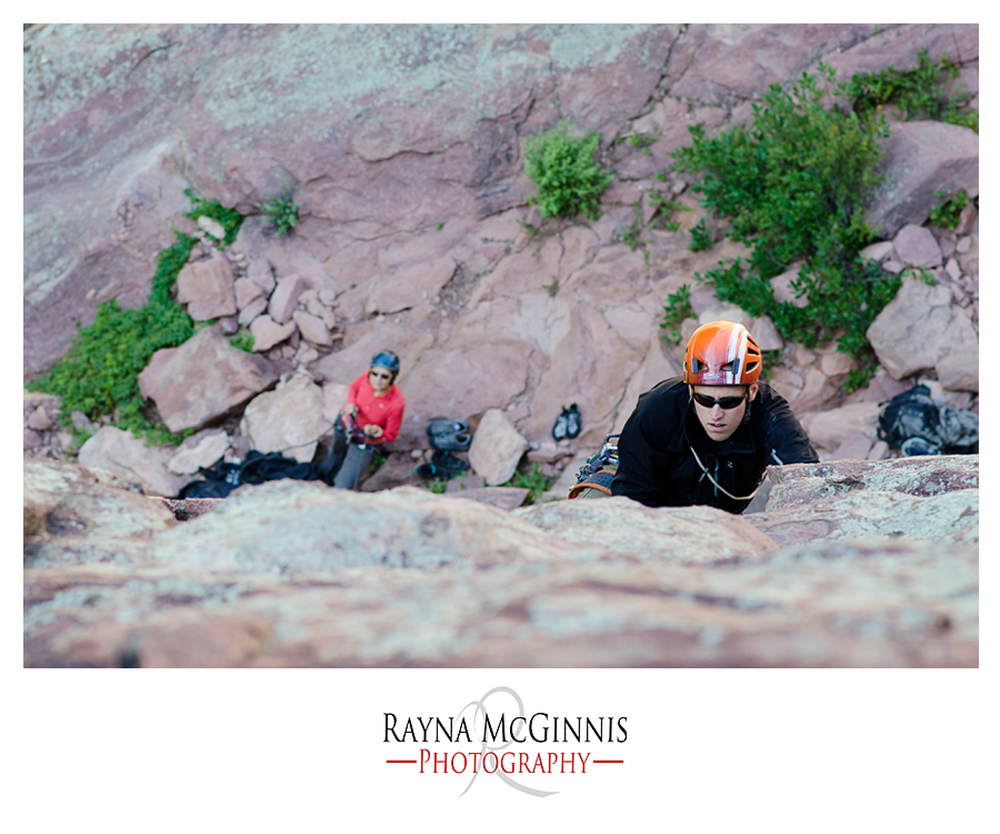 Rock Climbing Couple's photography session