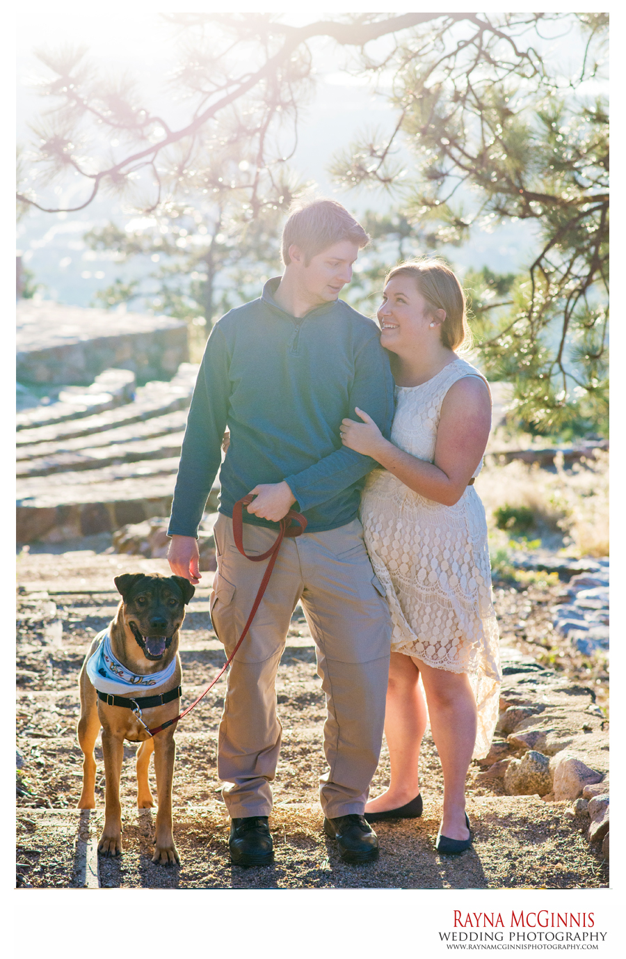 Boulder Engagement Pictures with Dog