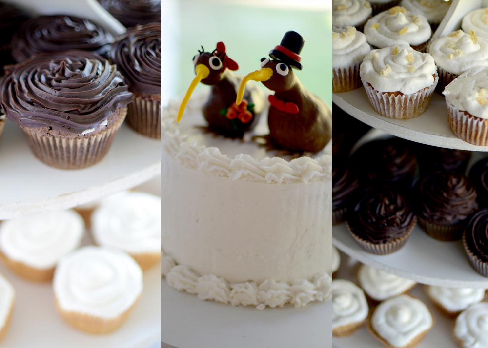 Wedding Cake with Bird Topper