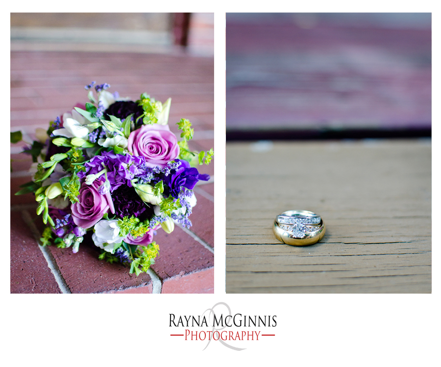 Wedding Bouquet and Ring Shots at the Wellshire Inn