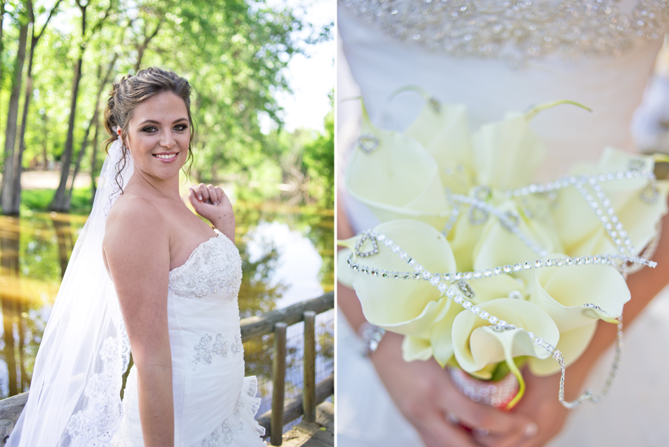 Hudson Gardens Wedding Pictures with Bouquet from Enchanted Floral Design