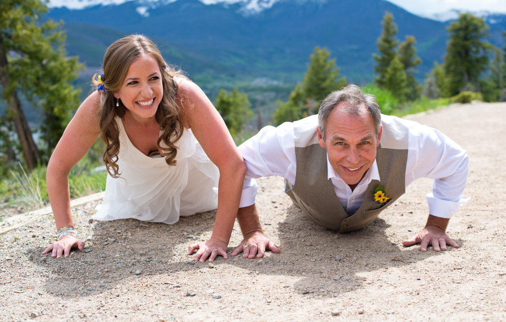 Bride and Groom Push Up Contest