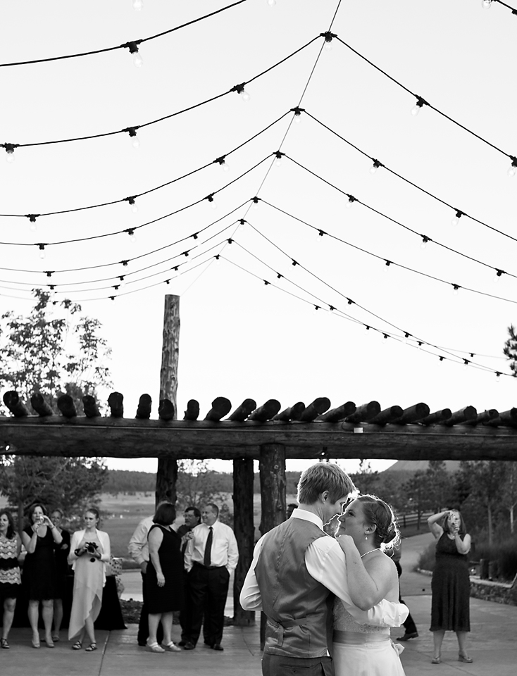 Spruce MOuntain Ranch Wedding Photography - First Dance at Alberts Lodge